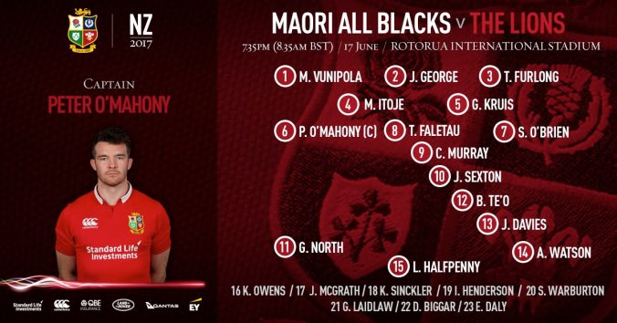 Lions v Maori All Blacks